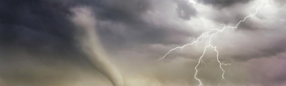 tornado and lightening storm