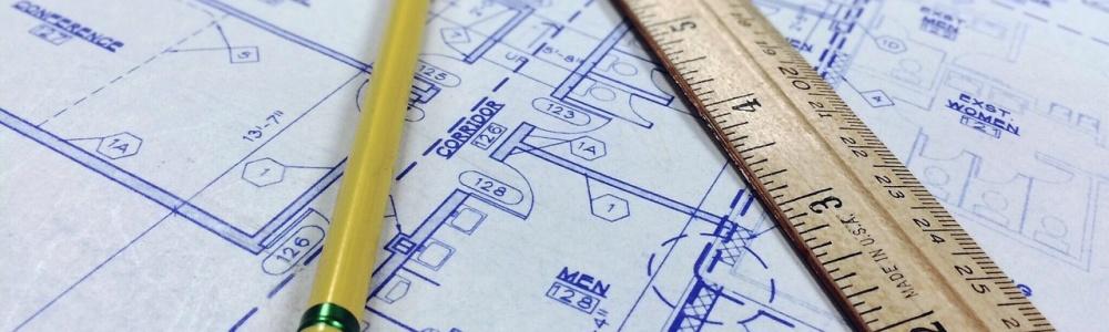 architecture planning ruler pencil blueprint